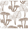 hand drawn background with coltsfoot vector image