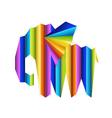 Multicolor elephant concept vector image
