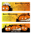 set of flyers to Halloween Party vector image