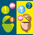 woman and man thinking in differents knowledge vector image