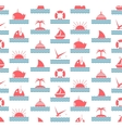 Nautical and Sea Seamless Pattern vector image vector image