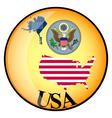 button USA vector image