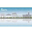 Rome skyline with grey landmarks vector image vector image