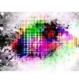 glowing grunge splash vector image vector image