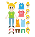 Big set of clothes for the girl Constructor vector image