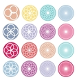 Round ornaments set Abstract creative flowers vector image