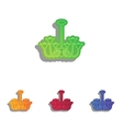 Chandelier simple sign Colorfull applique icons vector image