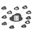black cloud networking background vector image