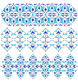 blue oriental border and ornament fifteen vector image