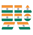 buttons with flag of India vector image