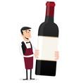 cartoon french winemaker vector image