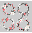 Christmas Floral Elements Collection vector image