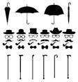 Gentleman icon set vector image
