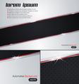 Leather Chrome Automotive background vector image