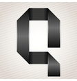 Letter metal ribbon - Q vector image