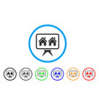 realty project rounded icon vector image