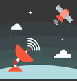 satellite technology concept vector image
