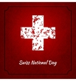 Swiss international day background vector image