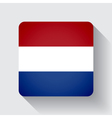 Web button with flag of Netherlands vector image