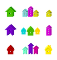 set of house icon for advertising real estate vector image vector image