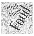 Lower Cholesterol Food to Avoid Word Cloud Concept vector image