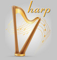 harp musical instruments stock vector image