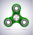 Spinner green mosaic design with metal vector image