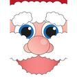 banner cheerful Santa Claus vector image