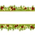 christmas pine frame 2908 01 vector image