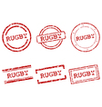 Rugby stamps vector image vector image