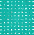 100 couple icons vector image