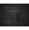 Modern unique american football poster with vector image