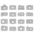 Camera icons set vector image