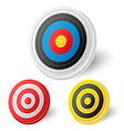 Archery target vector image