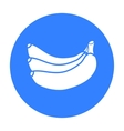 Banana icon black Singe fruit icon from the food vector image