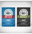 Big Sale flyer template vector image