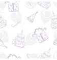 Birthday seamless background vector image