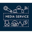 Concept of media service Linear style vector image