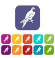 falcon icons set vector image