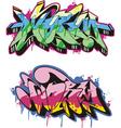 Graffito text design - worm Color vector image