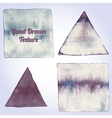 Gray watercolor triangle and rectangle shapes vector image