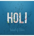 Holi Festival of Color Background vector image