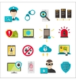 Internet safety icons virus cyber attack vector image