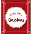 merry christmas frame isolated icon design vector image
