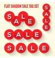 Modern flat sale tags set vector image
