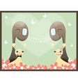 two snail vector image