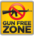 Gun free zone sign assault rifle vector image vector image