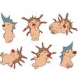 Small hedgehogs clip art vector image