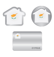 Home icon on the Cyprus flag vector image vector image