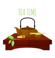 traditional chinese tea concept vector image